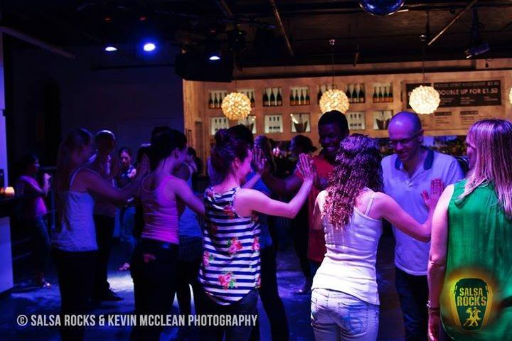 Dancers at our Wednesday Salsa Classes in Leeds